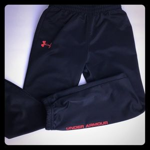 Boys Black UNDER ARMOUR Athletic Pants